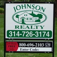 johnson realty signage