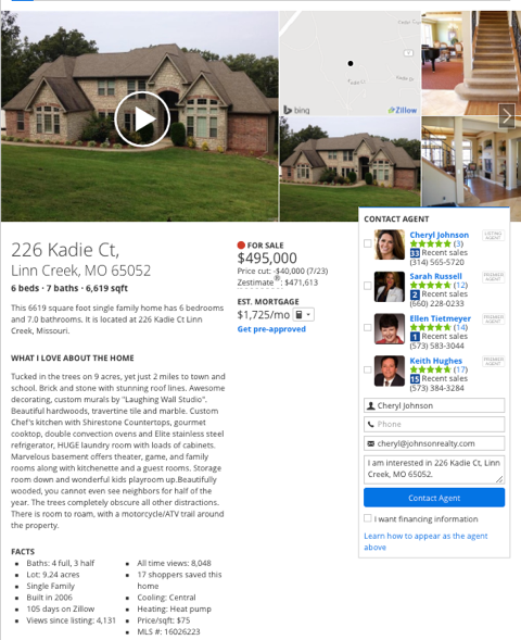 zillow.com real estate listing
